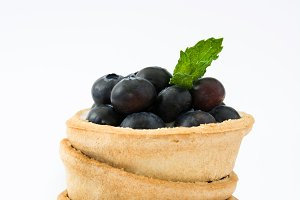 Delicious blueberry tartlet