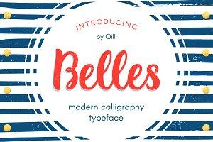 Belles Script - Modern Romantic Font