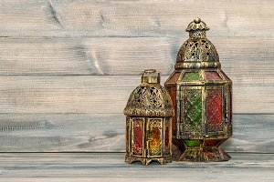 Oriental vintage light lantern