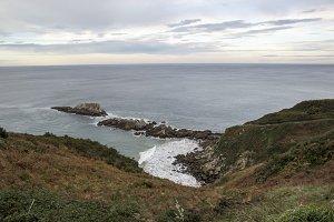The coast near Zarautz