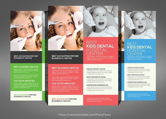 Family Dentistry Flyer Template Flyer Templates Creative Market – Hospital Flyer Template