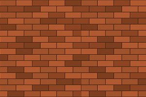 Seamless Pattern Set of Brick Wall
