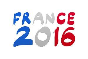 Flag France lettering vector 2016