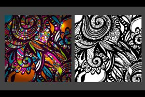 2 Zentangle Inspired patterns.