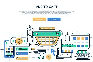 Add to Cart Line Design Header