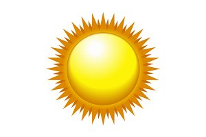 Shiny Sun Icon