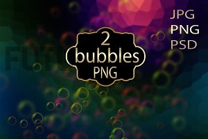 Bubbles Photoshop overlays. PNG.