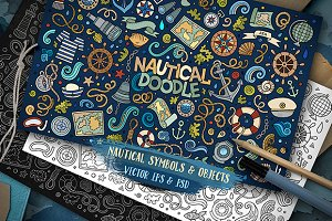 ✮ Nautical Objects & Symbols Set