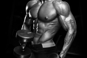 Handsome bodybuilder