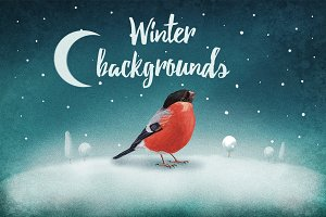 Winter Backgrounds Package