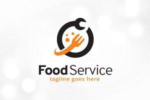 Food Service Logo Template