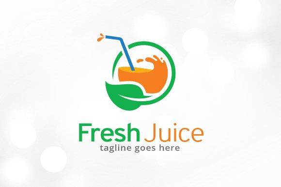 fresh juice logo template creative illustrator templates creative market fresh juice logo template