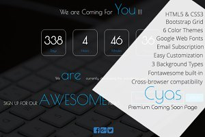 CYAS- Responsive Coming Soon Page