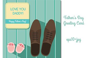 Father's day greeting card. vector
