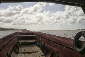 Ferry boat on the Suriname river