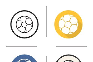 Soccer ball icons. Vector