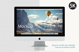Mockup Apple iMac on white