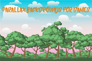 Parallax backgrounds for games