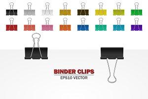 Binder clips.