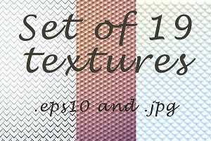 Set of 19 textures