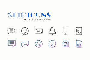 Communication Line Icons - Slimicons