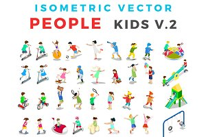 ISOMETRIC VECTOR People Kids v2