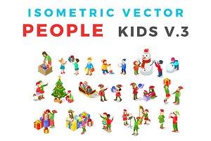 ISOMETRIC People Kids v3 Christmas