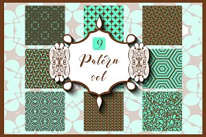 9 Ornamental seamless patterns.
