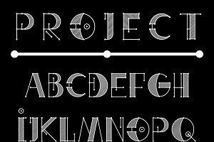 Engineer Technical Vector Font (B&W)