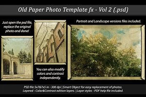 Old Paper Photo Template Vol - 2