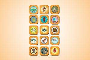 15 Camping Icons