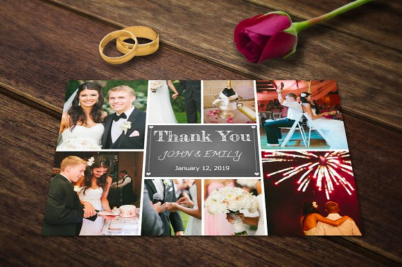 wedding thank you card template psd cards