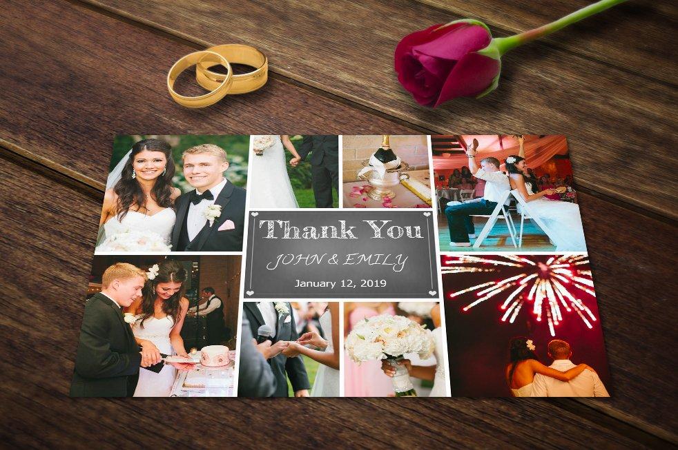 Wedding Thank You Card Template PSD Card Templates Creative Market – Wedding Thank You Card Designs