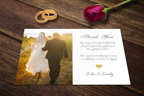 wedding thank you card template psd card templates creative market