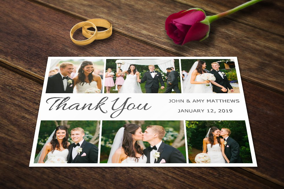 Wedding Thank You Card Templates Psd Invitation Creative Market