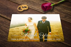 Wedding Card Templates Thank You PSD