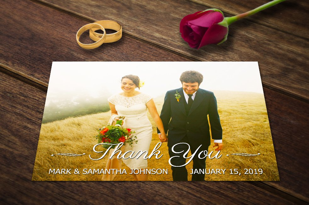 Wedding Card Templates Thank You PSD ~ Card Templates ~ Creative Market
