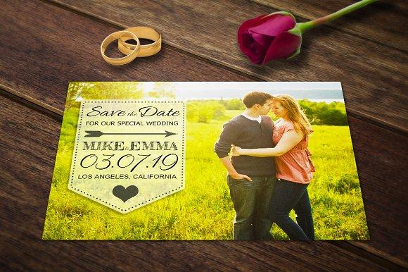 save the date card postcard template card templates creative market
