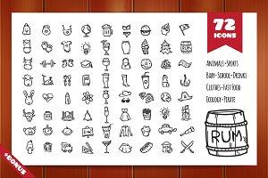 72 Doodle Elements Pack