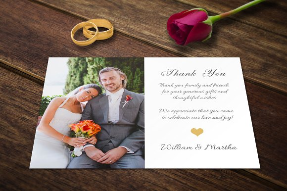 Wedding thank you cards template psd card templates creative wedding thank you cards template psd card templates creative market pronofoot35fo Image collections