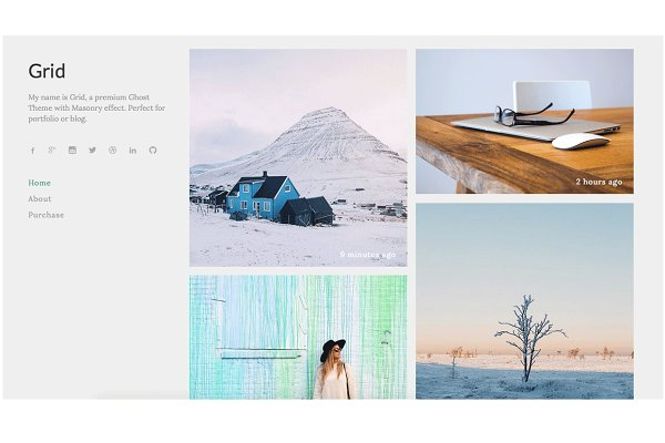Ghost Themes: Malvouz - Grid - Premium Ghost Theme