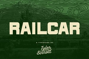 Railcar Display Typeface - %50 OFF