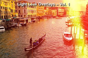 Light Leak Overlays – Vol. 1
