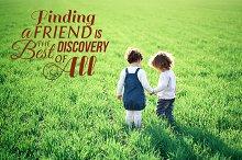 Friendship Word Overlays