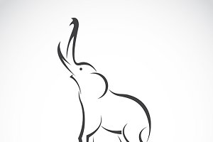 Vector images of elephant design
