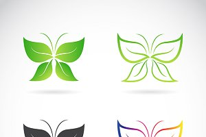 Vector group of butterfly design