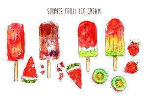 Summer Fruit Ice Cream