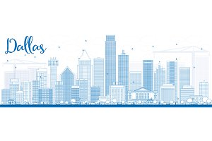 Outline Dallas Skyline