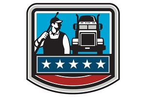 Pressure Washer Worker Truck Crest