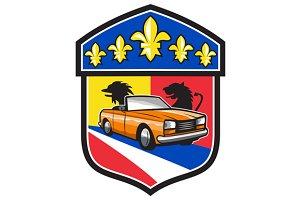Vintage Cabriolet Fleur-de-Lis